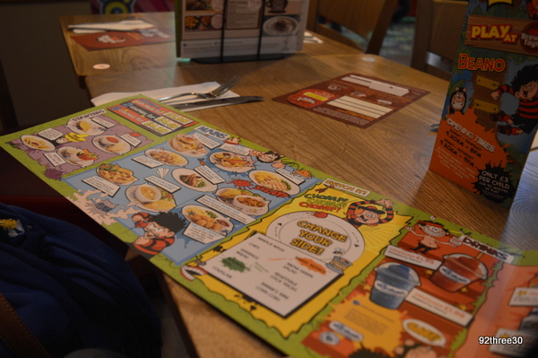 beano kids menu