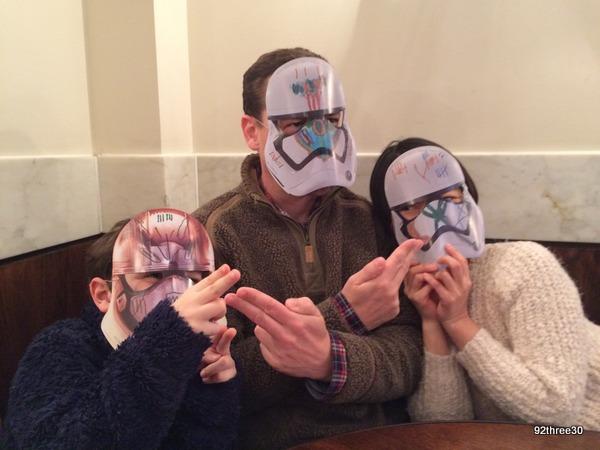 wearing stormtrooper masks