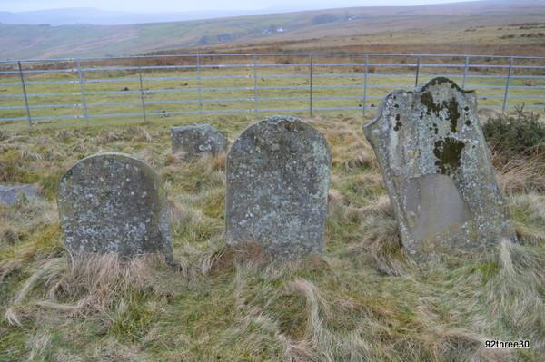 headstones cefn golau cemetery