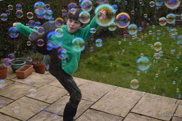 high kicking bubbles