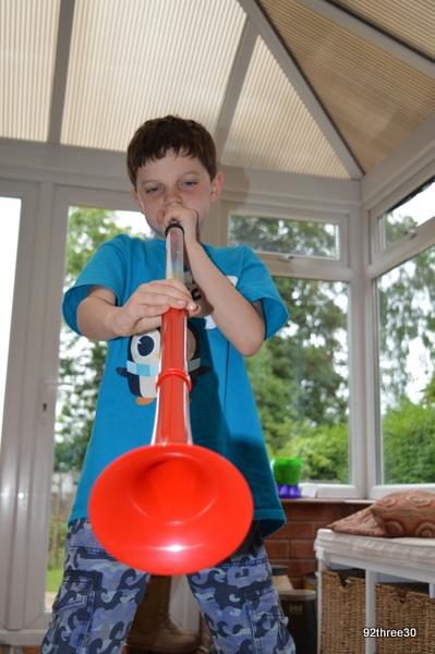 plastic brass instrument