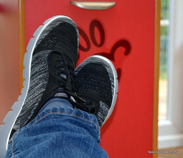 putting my feet up