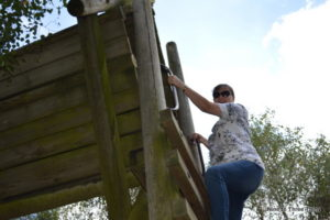 climbing at Conkers