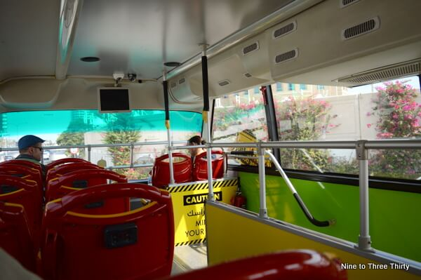 inside the doha bus