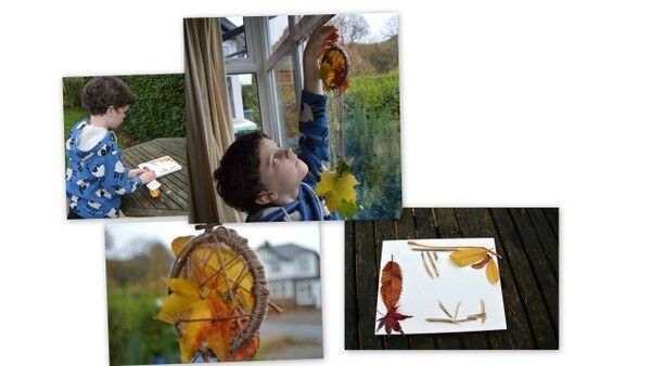 autumnal crafts dreamcatcher