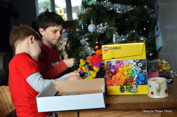 building Christmas Lego sets