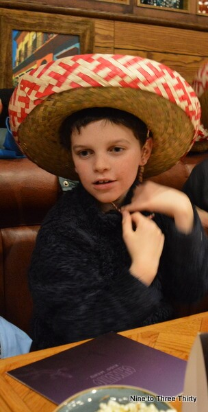 wearing a mexican hat