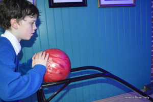 using a bowling frame