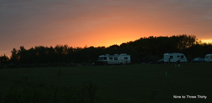 sunset at the camping ground