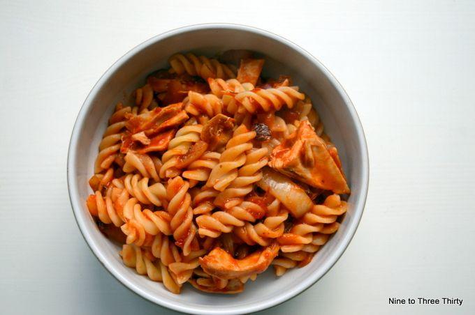 chucky vegetables pasta sauce