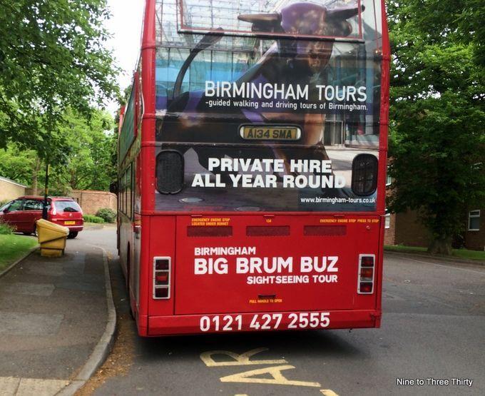 open top tour of birmingham