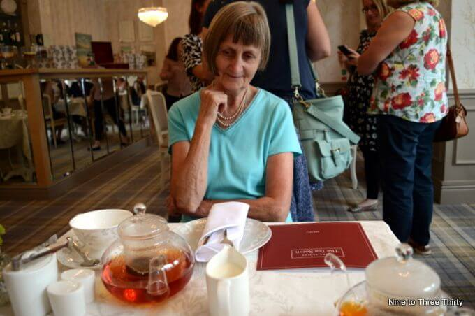 mum at afternoon tea