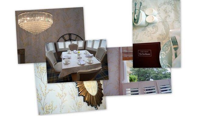 decor at laura ashley tea rooms