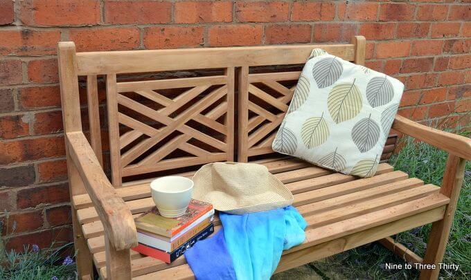 sitting on the garden bench