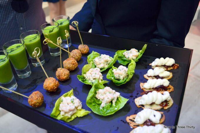 canapes at hippodrome theatre