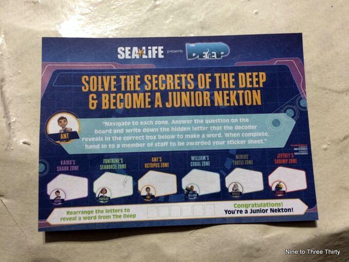 nekton activity sheet sea life