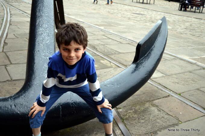 anchor and boy