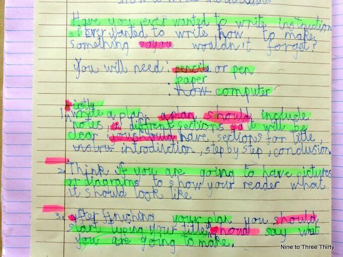Handwriting year 5