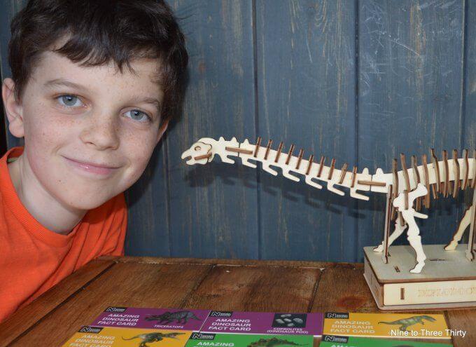model wooden dinosaur