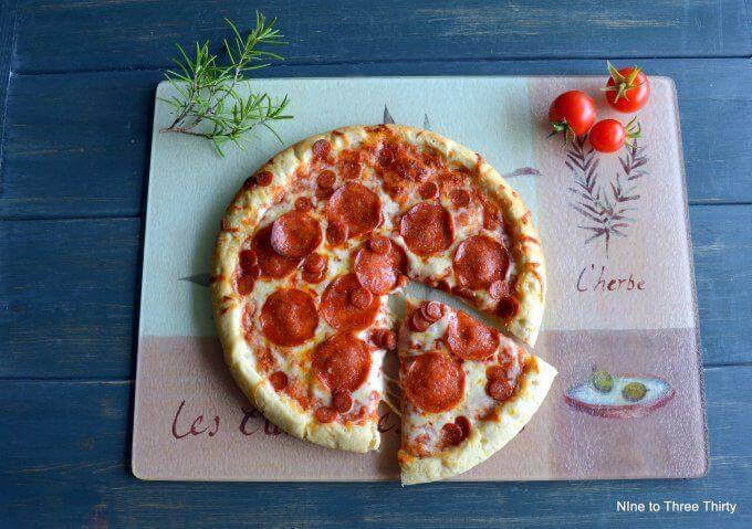 pizza kitchen pepperoni