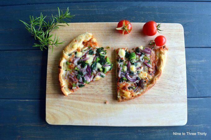 pizza kitchen garden vegetable