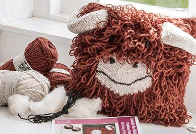 highland cow cushion cover kit