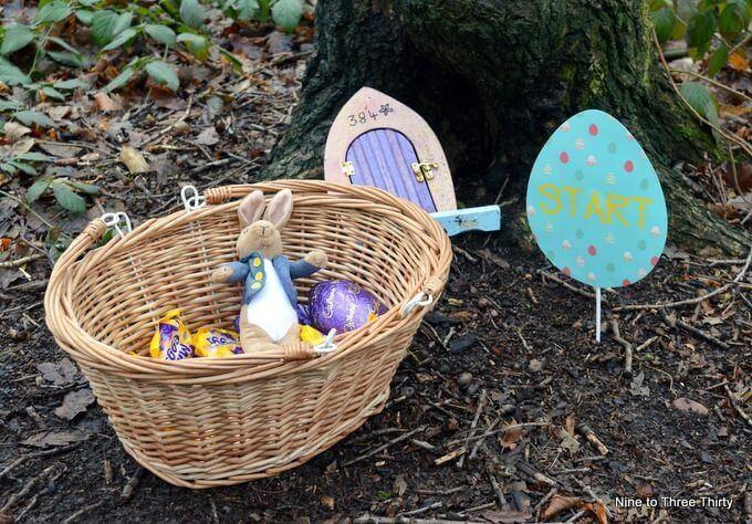 start of our easter egg hunt
