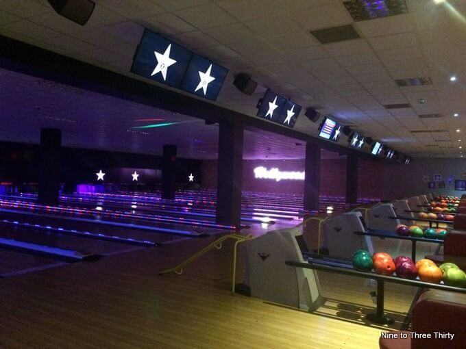 Bowling alley hollywood bowl ladywood