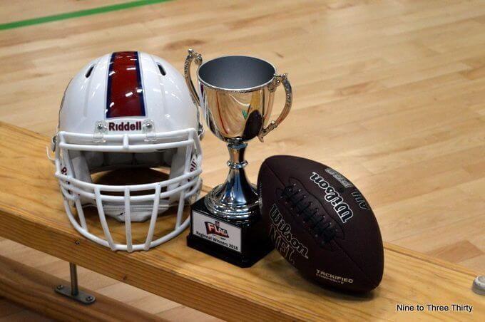 NFL Flag tournament trophy
