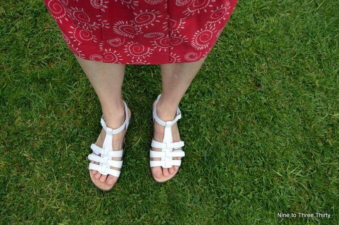white sol sandals