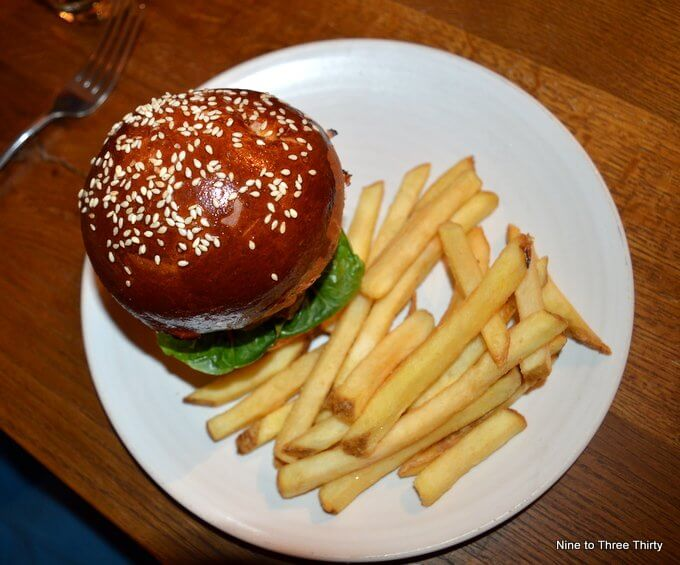 Mini Burger and Chips