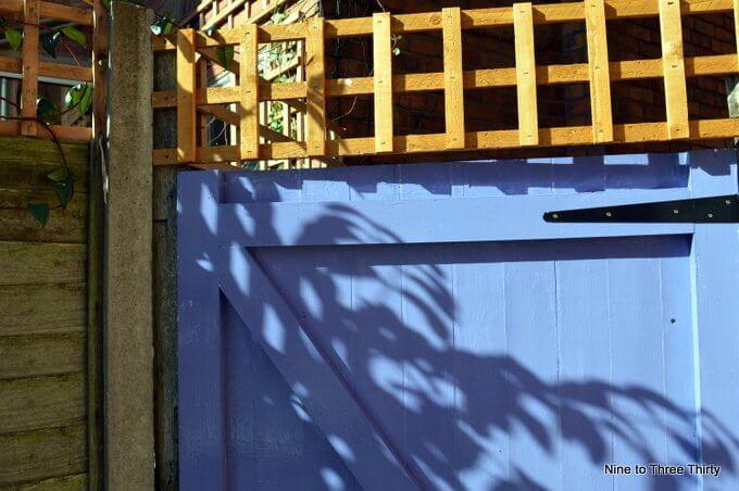 garden gate with trellis