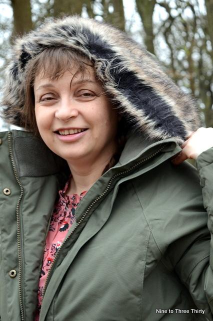 fur hood on coat