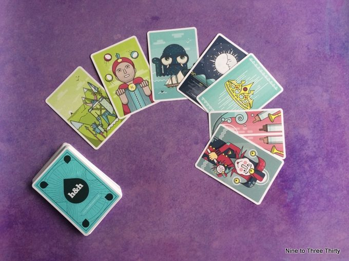 story cards on purple