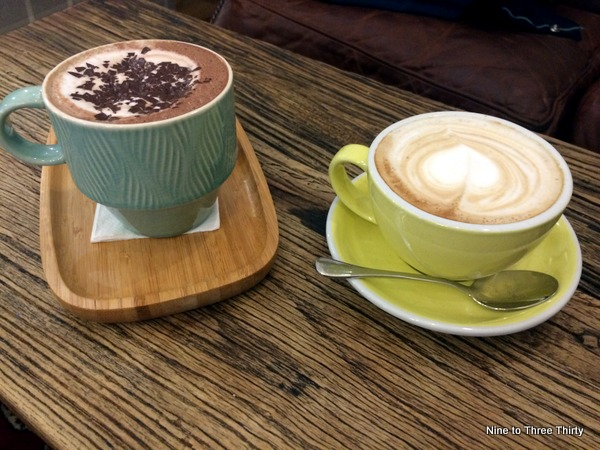 latte and chocolate