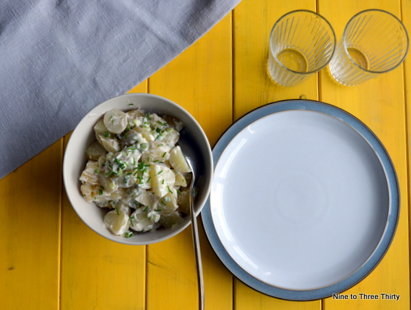 potato salad with ayrshire potatoes