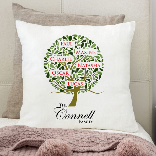family tree personalised cushion