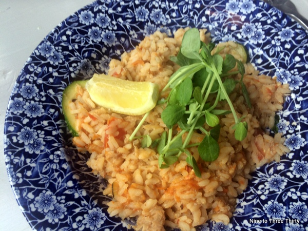 Crab and Courgette Risotto