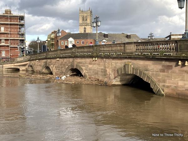 worcester bridge flooding