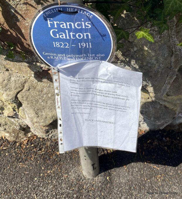 galton blue plaque