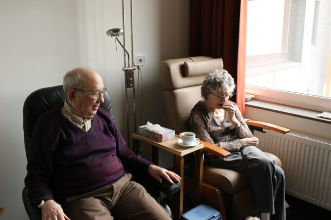 elderly people in chairs