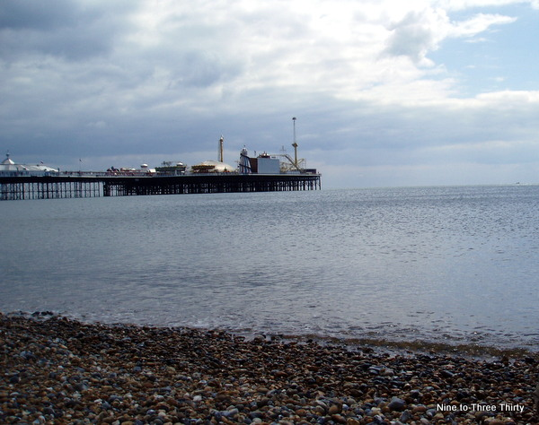 Brighton beach with pier