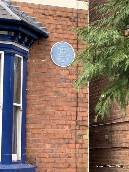 william slim blue plaque